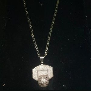 Other - Johnson Basketball charm + necklace pure .925